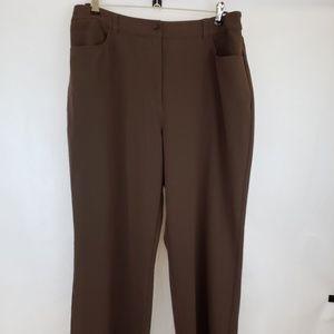 🔵5/$50🔵 Chico's Brown Regular Pants Size 3